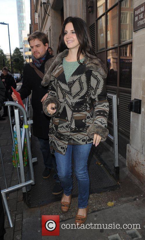 Lana Del Rey leaving the Radio 1 Studios,...