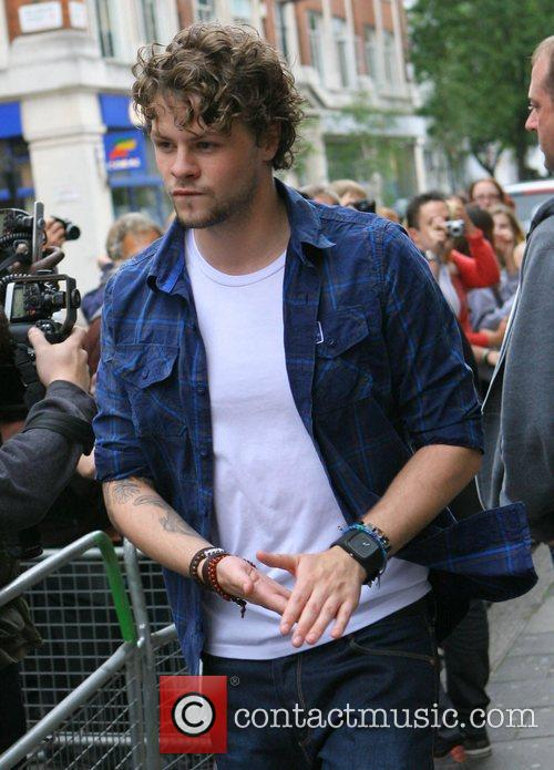 Jay McGuiness of The Wanted at the BBC...