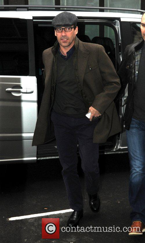Jon Hamm arrives at the BBC Radio 1...