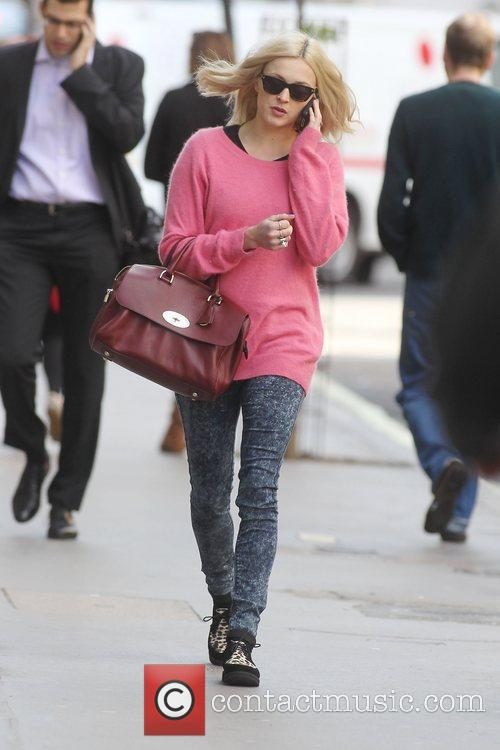 Feane Cotton arriving at the BBC radio One...