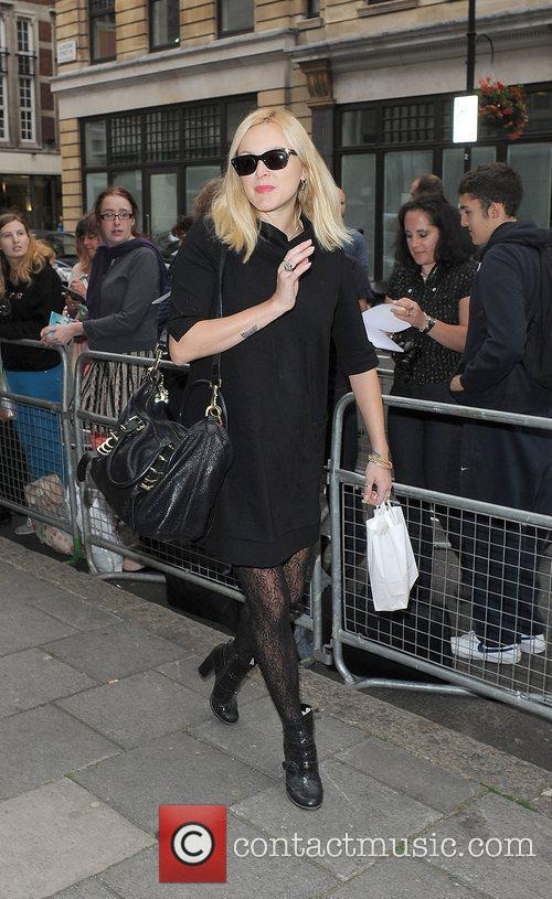 Fearne Cotton arriving at the Radio 1 studios....