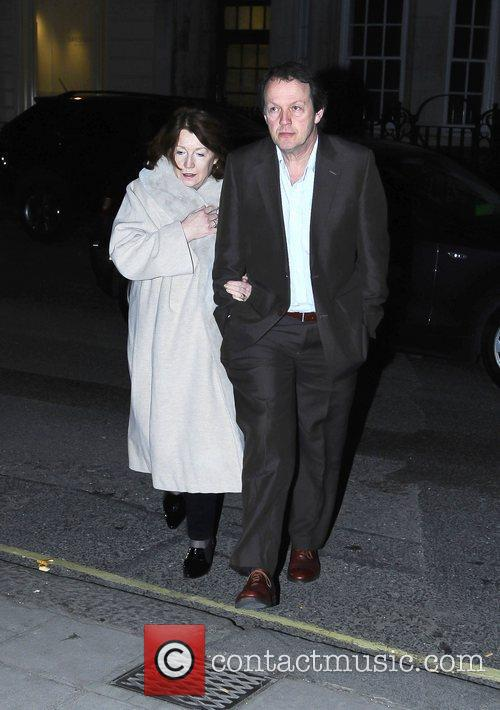 Kevin Whately with his wife, Madelaine Newton,...