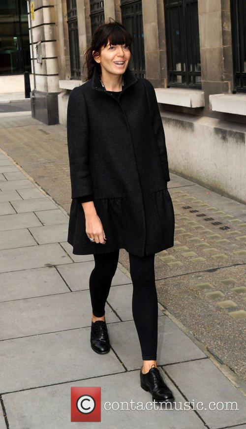 Claudia Winkleman at the BBC Radio 2 studios...