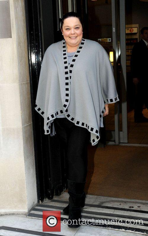 Lisa Riley at the BBC Radio 2 studios...