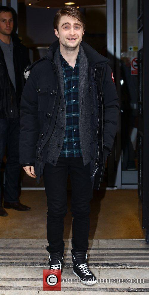 Daniel Radcliffe leaving the BBC Radio 2 studios...