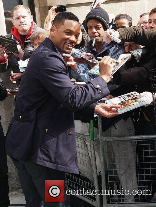 Will Smith outside the BBC Radio Two studios...