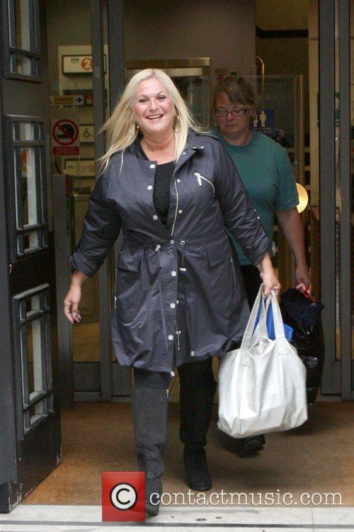 Vanessa Feltz Celebrities are seen leaving Radio 2...