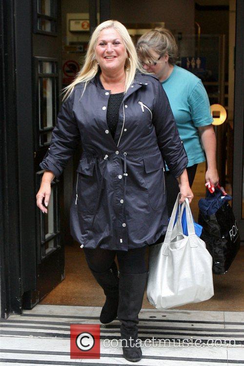 Celebrities are seen leaving Radio 2 Studios