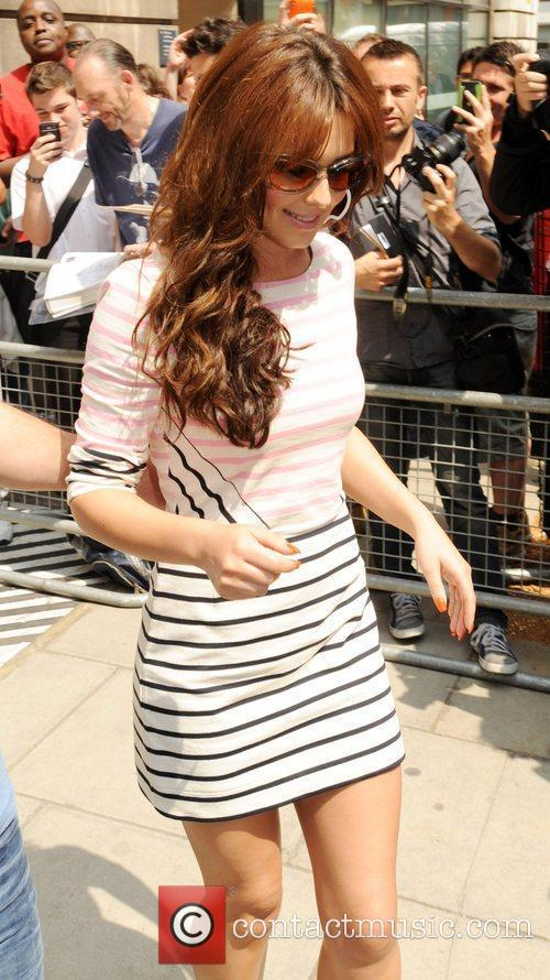 Cheryl Cole outside the BBC Radio Two studios...