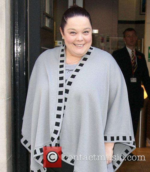 Lisa Riley  at BBC Radio Two studios...