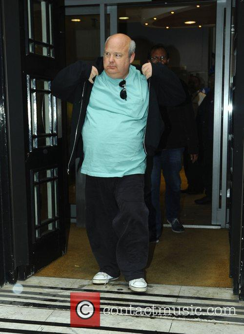 Kyle Gass leaving the BBC Radio 2 studios...