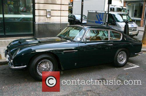 Chris Evans' Aston Martin outside BBC Radio 2...