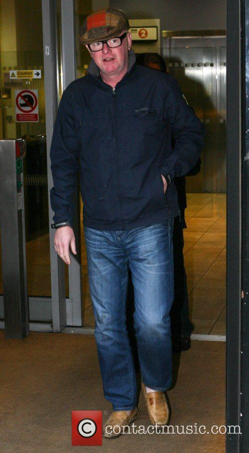 Chris Evans leaves the BBC Radio 2 studios...