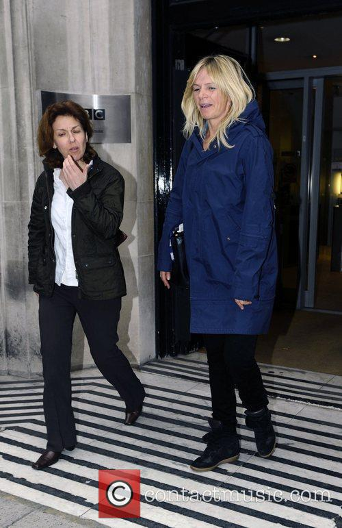 Zoe Ball leaving the BBC Radio 2 studios...