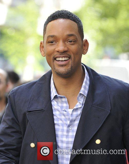 Will Smith outside the BBC Radio One studios...