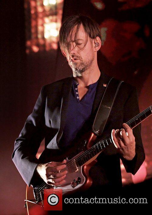 Radiohead performing live at Manchester Arena