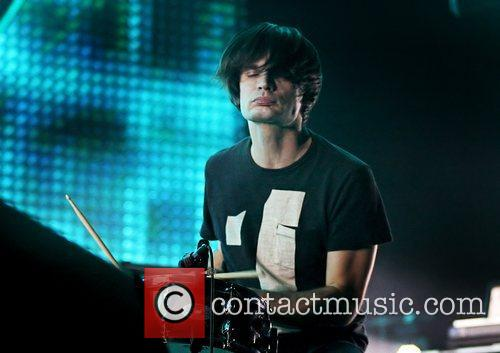 Jonny Greenwood Radiohead performing live at Manchester Arena...