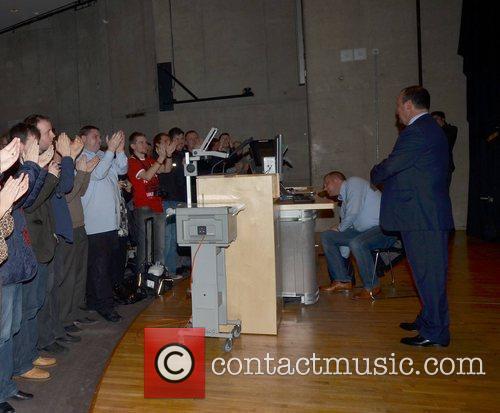 Rafa Benitez gives a talk on Belief, Determination,...