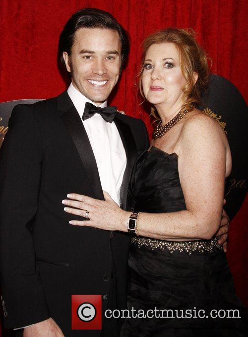 Tom Pelphrey with his mother Broadway opening night...
