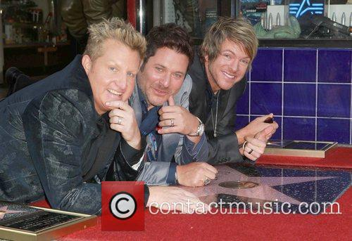 Gary Levox, Jay Demarcus, Rooney and Star On The Hollywood Walk Of Fame 9