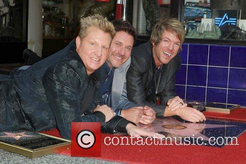 Gary LeVox, Jay DeMarcus, Rooney and Star On The Hollywood Walk Of Fame 12