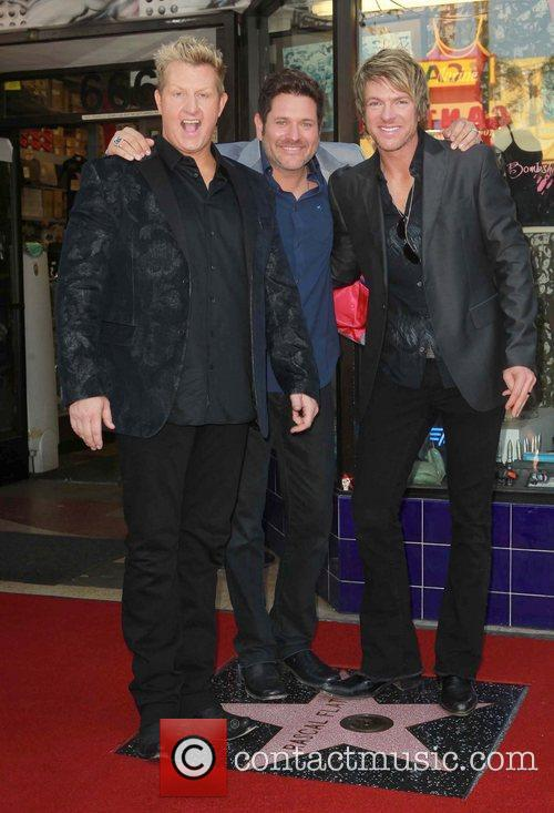 Gary Levox, Jay Demarcus, Rooney and Star On The Hollywood Walk Of Fame 11