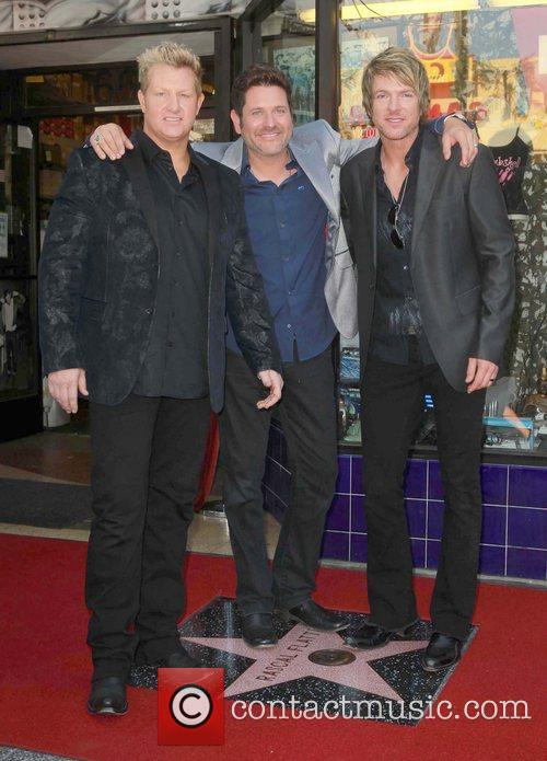 Gary Levox, Jay Demarcus, Rooney and Star On The Hollywood Walk Of Fame 8