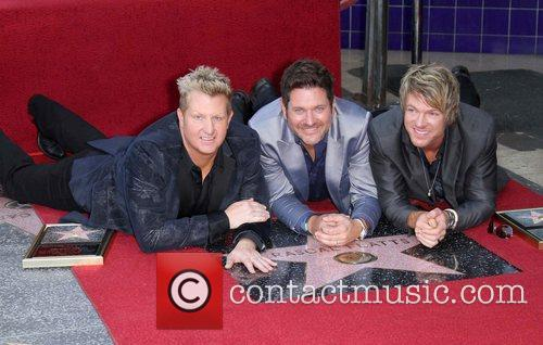 Gary Levox, Jay Demarcus, Rooney and Star On The Hollywood Walk Of Fame 10