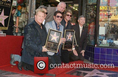 Gary LeVox, Jay DeMarcus, Rooney, David Foster, Leron Grubler and Star On The Hollywood Walk Of Fame 2
