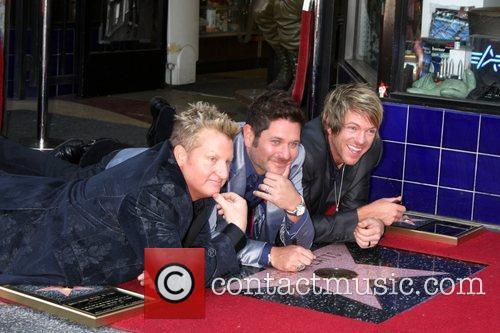 Gary Levox, Jay Demarcus, Rooney and Star On The Hollywood Walk Of Fame 6