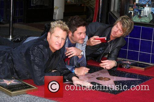 Gary Levox, Jay Demarcus, Rooney and Star On The Hollywood Walk Of Fame 4