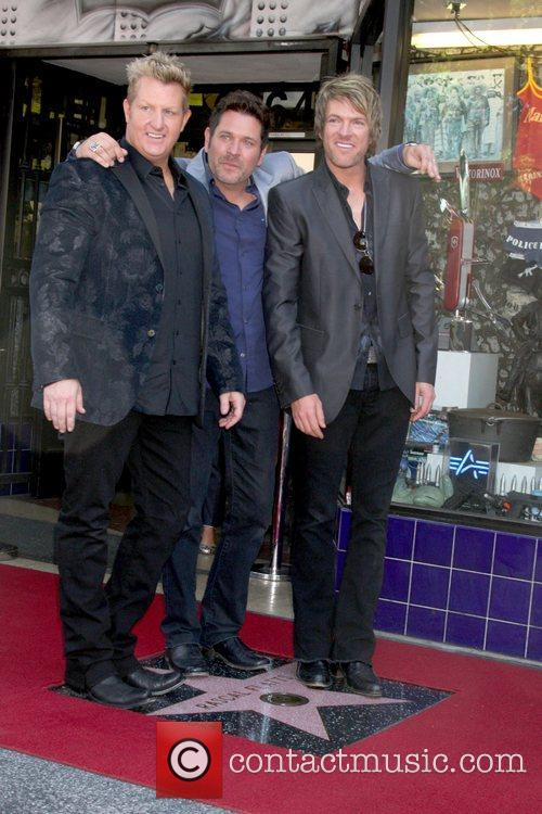 Gary Levox, Jay Demarcus, Rooney and Star On The Hollywood Walk Of Fame 2