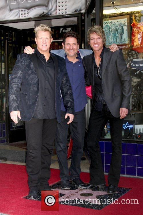 Gary Levox, Jay Demarcus, Rooney and Star On The Hollywood Walk Of Fame 5