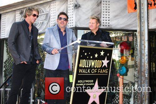 Gary Levox, Jay Demarcus, Rooney and Star On The Hollywood Walk Of Fame 3