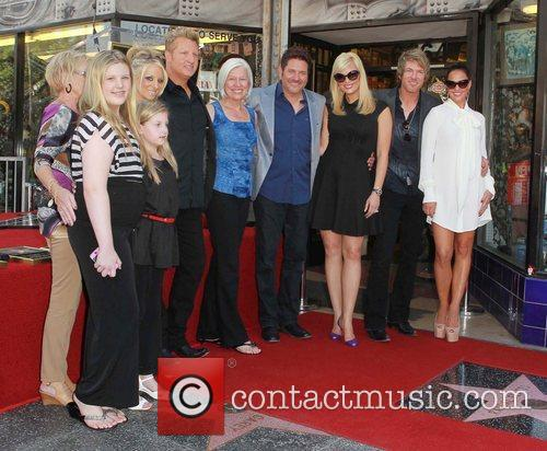 Gary LeVox, Jay DeMarcus, Rooney, Their Family and Star On The Hollywood Walk Of Fame 2