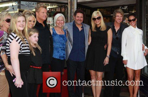 Gary LeVox, Jay DeMarcus, Rooney, Their Family and Star On The Hollywood Walk Of Fame 1