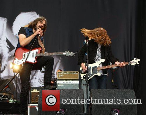 Justin Young and Arni Hjorvar, The Vaccines Reading...