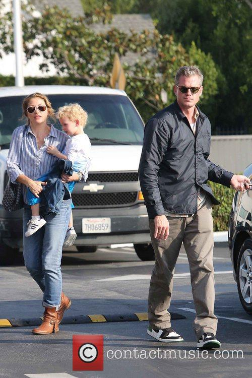 Rebecca Gayheart, Eric Dane and Billie 1
