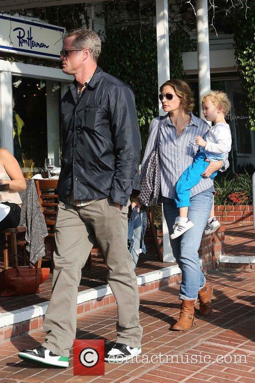 Rebecca Gayheart, Eric Dane and Billie 6