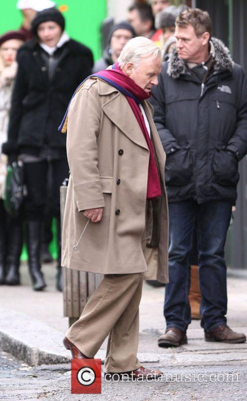 Anthony Hopkins filming scenes for the new movie...