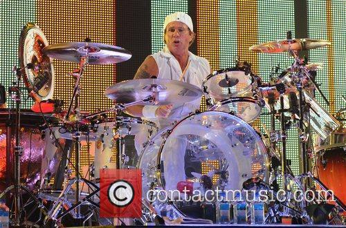 Chad Smith Red Hot Chili Peppers performing at...