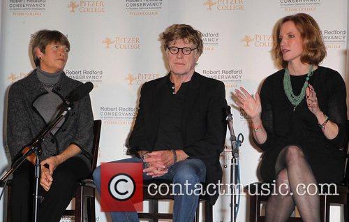 Robert Redford, Laura Skandera Trombley and Guest Pitzer...