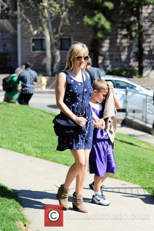 Reese Witherspoon is seen with her son Deacon...