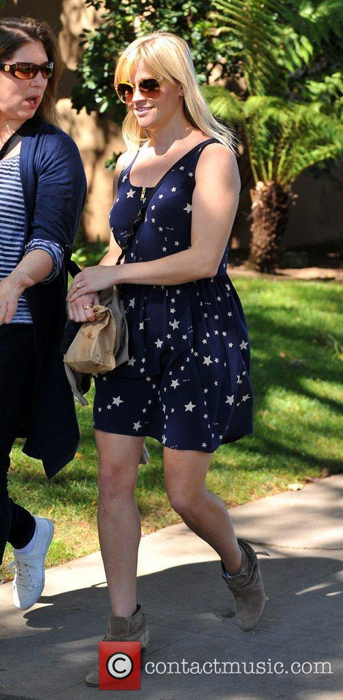 Reese Witherspoon is seen with friends while out...