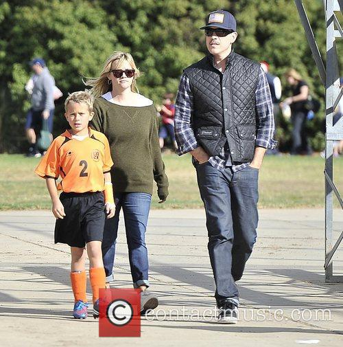 Reese Witherspoon with her son Deacon Phillippe and...