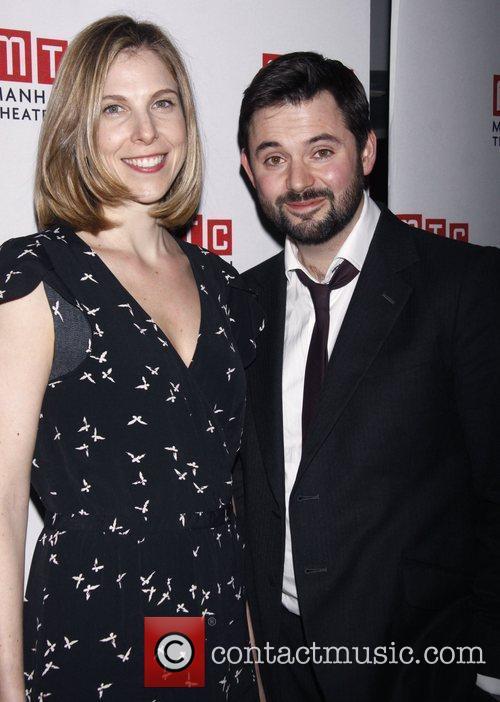 Carolyn Cantor and Matt Charman  Opening night...
