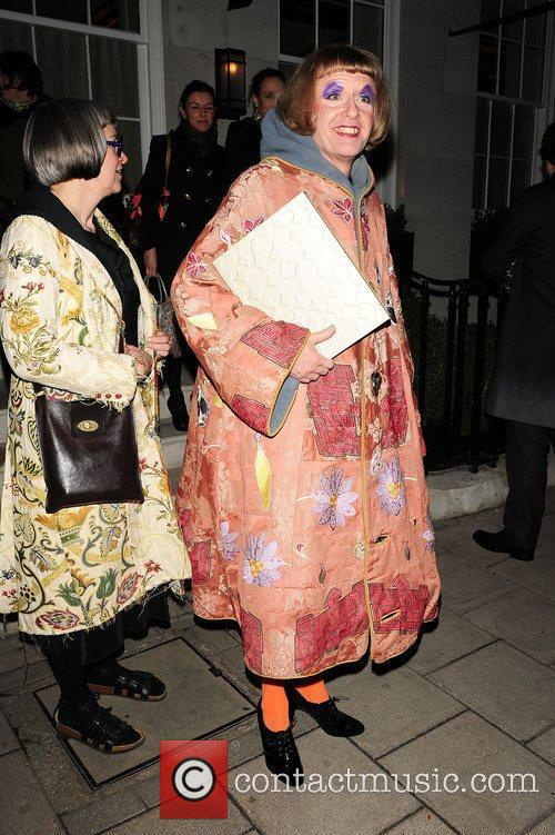 Grayson Perry leaves meat, game and seafood restaurant,...