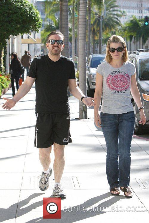 ricky gervais and partner jane fallon are 5776835