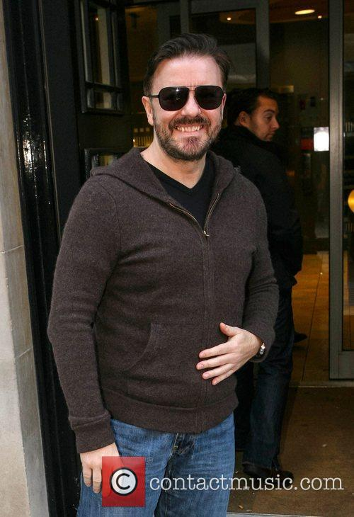 ricky gervais outside the bbc radio 2 4183993