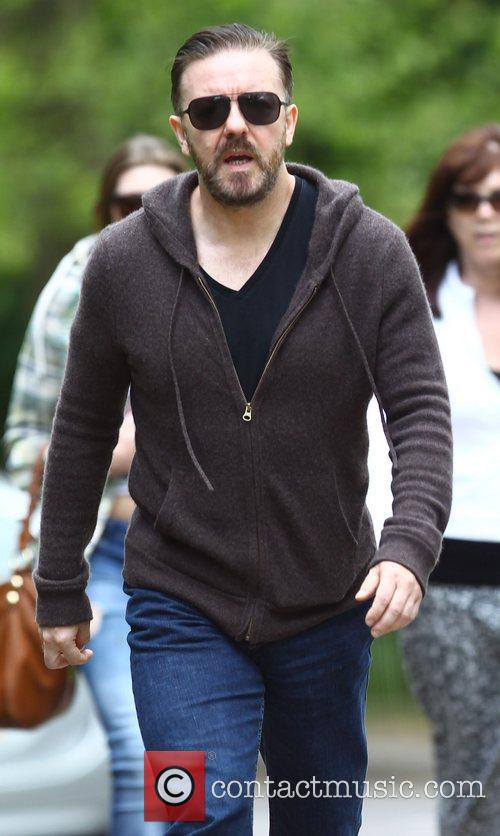 ricky gervais taking a stroll in north 3947770